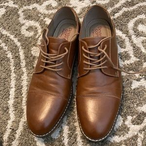 Dexter Comfort Memory Foam brown leather shoes